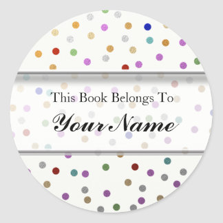 Personalized Bookplates - Colorful Dots