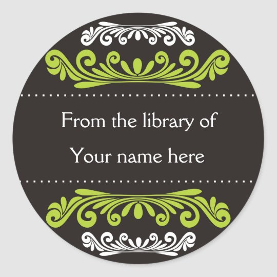 Personalized Bookplates - Colorful Flourishes