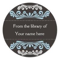 Personalized Bookplates - Colorful Flourishes sticker