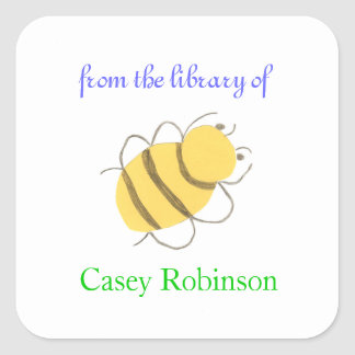 Personalized bookplates for children - little bee