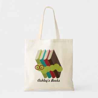 Personalized Bookworm Library Tote Bag