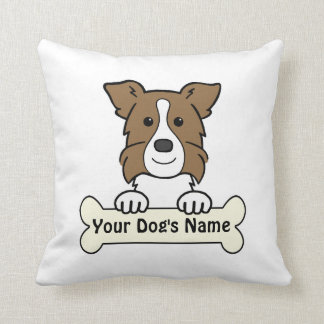 Personalized Border Collie Throw Pillows