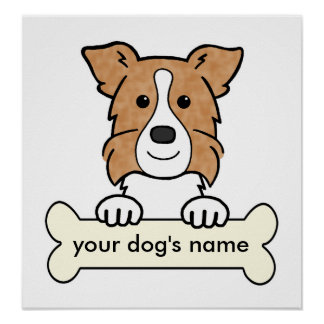 Personalized Border Collie Poster