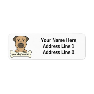 Personalized Border Terrier Return Address Label