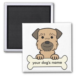 Personalized Border Terrier Magnet