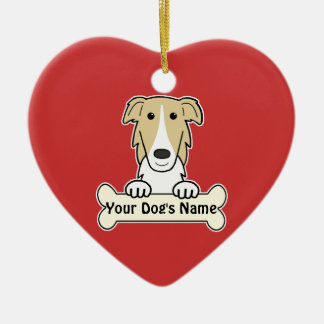 Personalized Borzoi Christmas Tree Ornaments