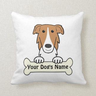Personalized Borzoi Throw Pillow