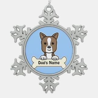 Personalized Boston Snowflake Pewter Christmas Ornament