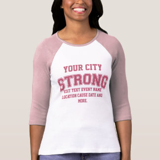 Personalized Boston Strong Your City T-shirt