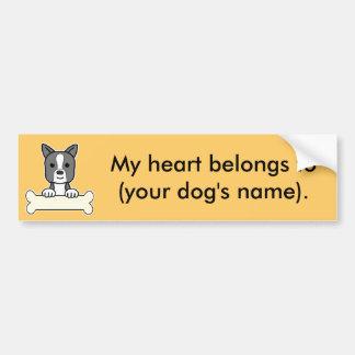 Personalized Boston Terrier Car Bumper Sticker