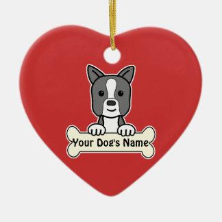 Personalized Boston Terrier Ceramic Ornament