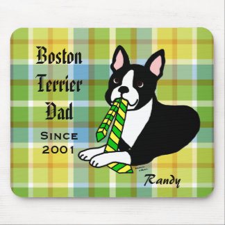 Personalized Boston Terrier Daddy 1 Mouse Pad