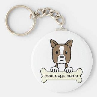 Personalized Boston Terrier Keychain