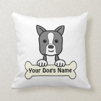 Personalized Boston Terrier Throw Pillow