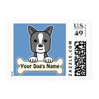 Personalized Boston Terrier Stamp