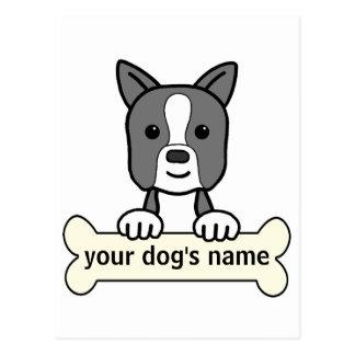 Personalized Boston Terrier Postcard