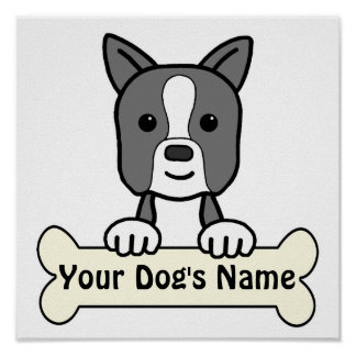 Personalized Boston Terrier Poster