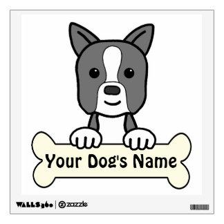 Personalized Boston Terrier Wall Sticker