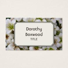Personalized Botanical White Flowers Customizable Business Card at Zazzle