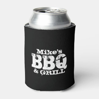 Personalized bottle and can coolers for BBQ party