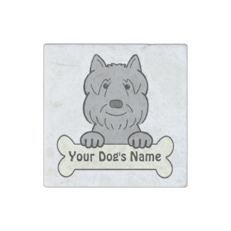 Personalized Bouvier Stone Magnet