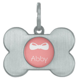 Personalized Bow Pet Tag