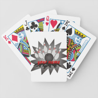 Personalized Bowling Bicycle Playing Cards