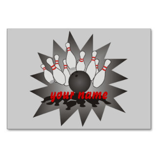 Personalized Bowling Card