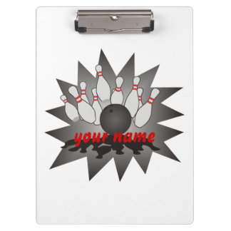 Personalized Bowling Clipboard