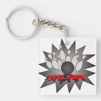 Personalized Bowling Acrylic Key Chain