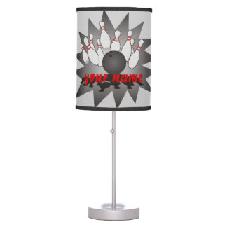 Personalized Bowling Table Lamp