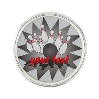 Personalized Bowling Lapel Pin