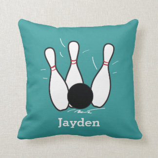 Personalized Bowling Pillow Throw Pillow