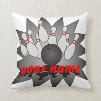 Personalized Bowling Throw Pillows
