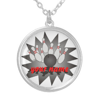 Personalized Bowling Silver Plated Necklace
