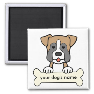 Personalized Boxer 2 Inch Square Magnet