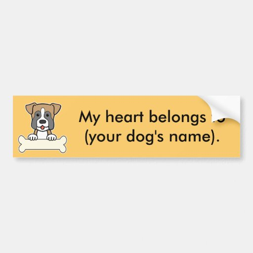 Personalized Boxer Bumper Stickers