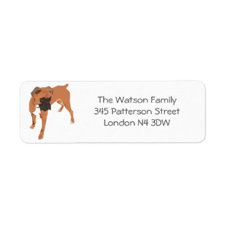 Personalized Boxer Dog Label