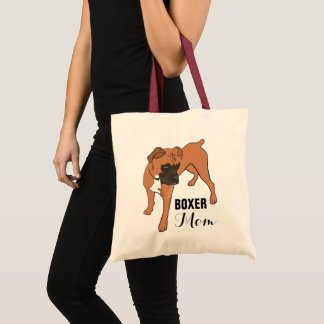 PERSONALIZED BOXER DOG TOTE BAG | ILLUSTRATION