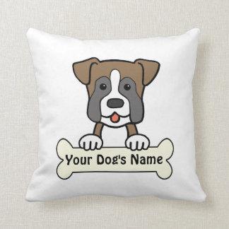 Personalized Boxer Throw Pillow