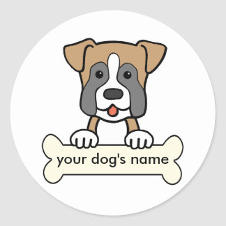 Personalized Boxer Stickers