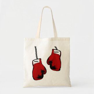Personalized Boxing Gloves Budget Tote Bag