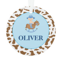 Personalized Boy Christmas Ornament Cowboy