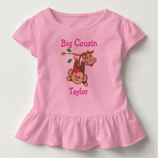 Personalized Boy, Girl Monkeys Big Cousin Toddler T-shirt