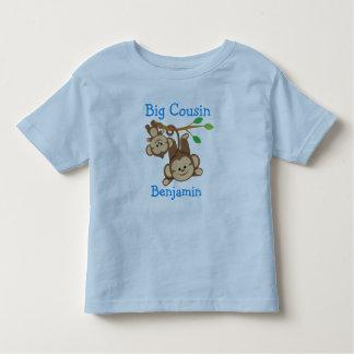 Personalized Boy Monkeys Big Cousin Shirt