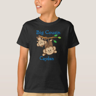 Personalized Boy Monkeys Big Cousin T-Shirt