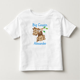 Personalized Boy Monkeys Big Cousin Toddler T-shirt