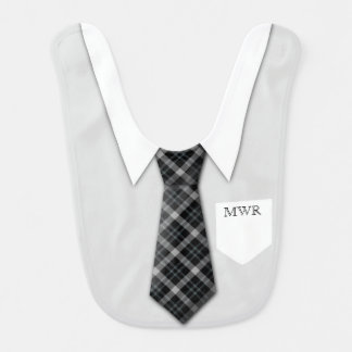 Personalized Boy s Suit Tie Funny Cute Baby Bibs