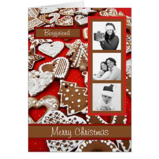 Personalized Boyfriend Gingerbread Christmas Card