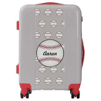 Personalized Boy's Baseball Luggage Suitcase Gift